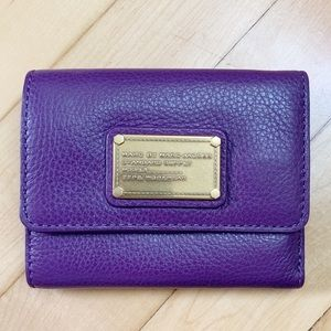 Marc Jacobs •Purple Standard Supply Trifold Wallet
